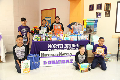 North Bridge students helping in hurricane relief
