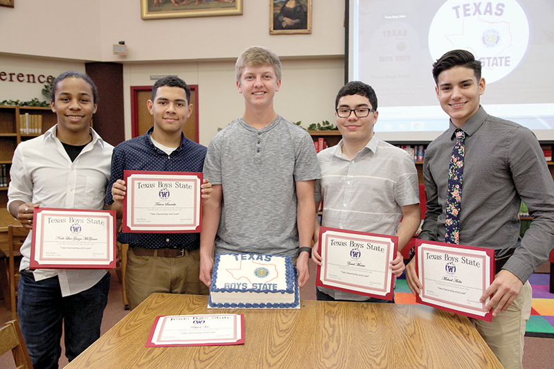 Weslaco High School students selected to Boys State